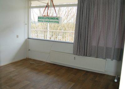 Na de woningontruiming van een huis met een hennepkwekerij. De woning is weer schoon en fris.